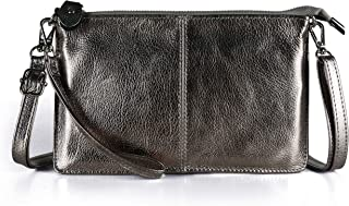 Befen Women's Leather Wristlet Clutch Phone Wallet, Mini Crossbody Purse Bag with Card Slots Size: Small