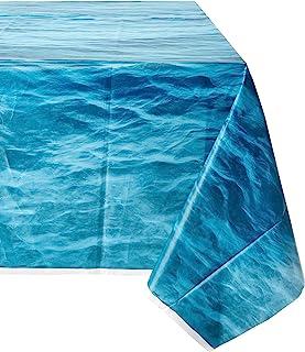 "Unique tableware Ocean Waves Plastic Tablecover-108 x 54"" | 1 Pc, 54"" x 108"""