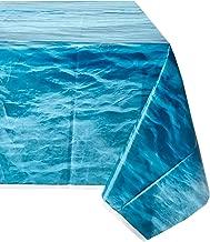 Ocean Waves Plastic Tablecloth, 108