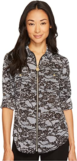 MICHAEL Michael Kors - Delicate Lace Lock Zip Top