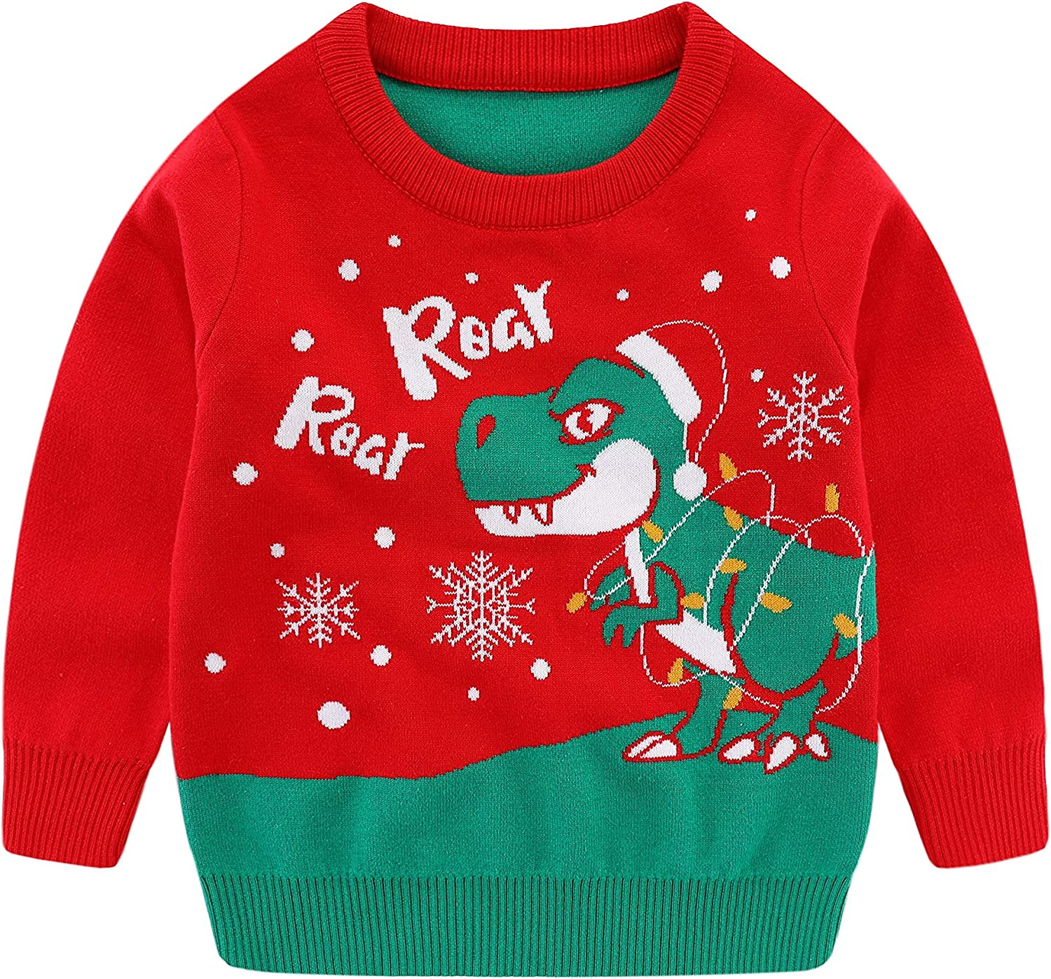 Unisex Kids Ugly Christmas Sweater Boys Girls Knitted Pullover Jumper Fall Winter Warm Outfit Clothes Xmas Gift