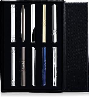 FIBO STEEL 10 Pcs Tie Clips Bar Pinch Clip for Men Wedding Business Tie Bar Clip with Box