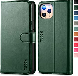 TUCCH iPhone 11 Pro Wallet Case, 11 Pro Leather Case with Auto Wake/Sleep RFID Blocking Protect Card Slots[TPU Shockproof ...