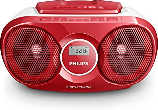 Philips Audio Player AZ215R/05 CD Player Radio (Dynamic Bass Boost, FM Digital Tuner, CD Shuffle/Repeat Function, 3 W, 3.5...