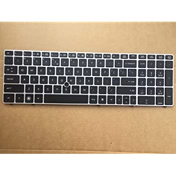 New Genuine FOR HP Elitebook 8570p Keyboard 701986-001 W//pointer