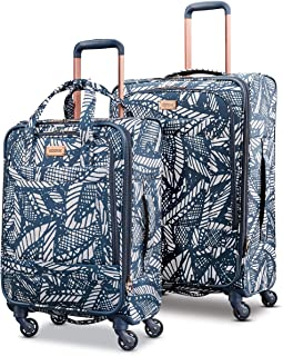 Belle Voyage Softside Luggage with Spinner Wheels, Floral...