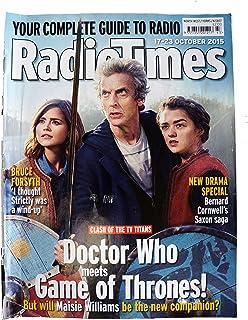 Radio Times Doctor Who Portada del 17 de octubre al 23 de octubre de 2015 - Doctor Who se reúne con Game of Thronos - Con Peter Capaldi como Doctor Who y Jenna Coleman como Clara Oswald