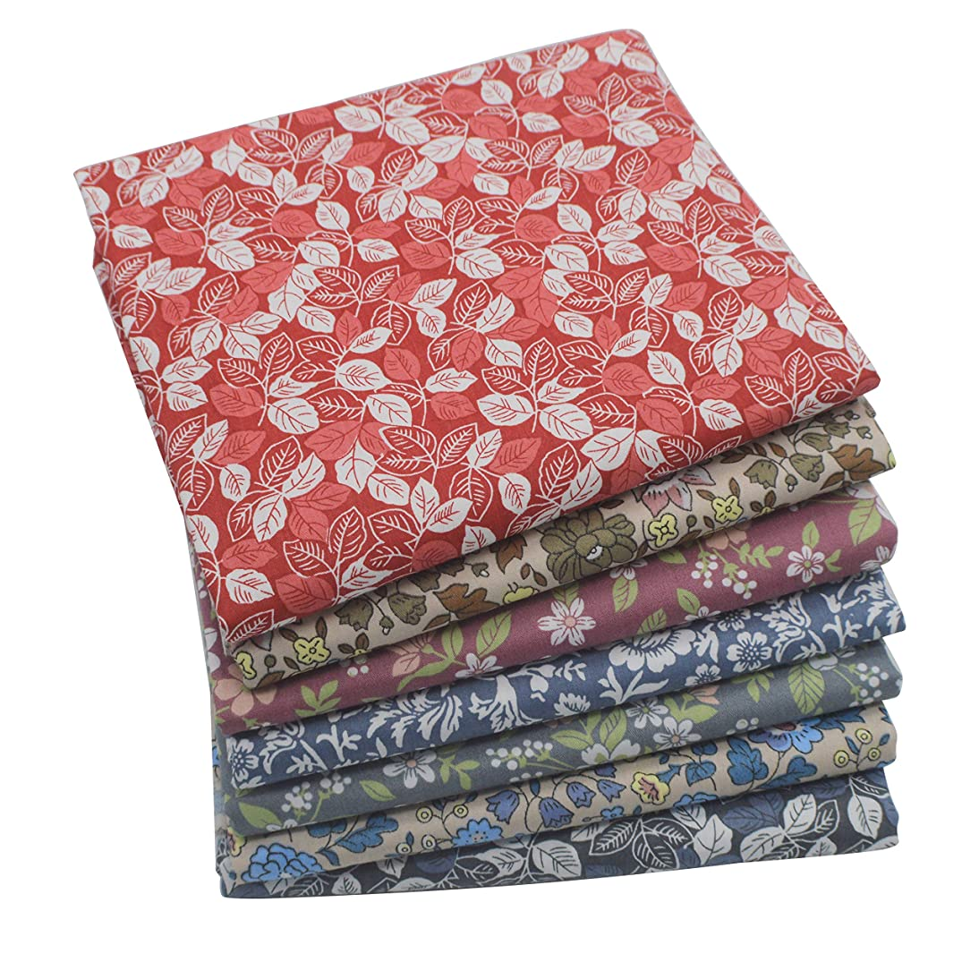iNee Bloom Fat Quarters Quilting Fabric Bundles, Sewing Quilting Fabric, 18