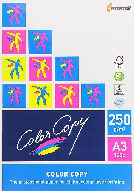 Color Copy 129800 - Pack de 125 hojas de papel multifunción A3 250 gr