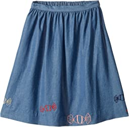 Sonia Rykiel Kids - Long Chambray Skirt w/ Embroidered Candies (Big Kids)