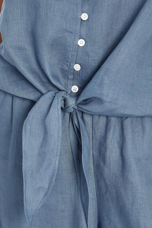 Three Dots Women's Front Tie Waist Cami Tank Top