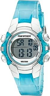 Unisex T5K817 Digital Mid-Size Light Blue/Silver-Tone Resin Strap Watch