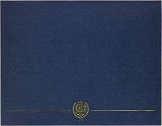 Great Papers! Navy Classic Crest Certificate Cover, 12