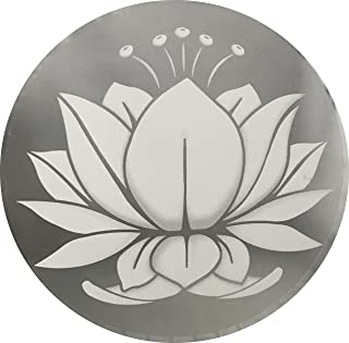 Glass Door & Window Repositionable Sticker Decal. 2 per Package -Shower Doors, Alert Birds, Dogs, Kids, Guests. Warn, Protect, Safety, Removable, Self Adhesive, Bird Alert. (Lotus Flower)