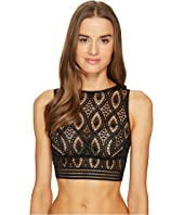 ELSE - Baroque Cropped Tank Underwire Bra Top