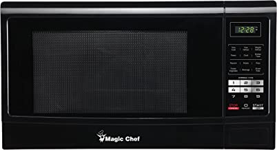 Magic Chef MCM1611B 1100W Oven, 1.6 cu. ft, Black Microwave,