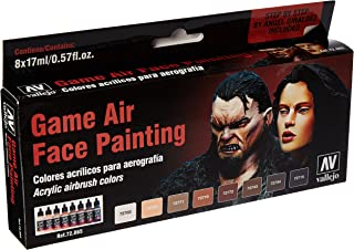 Vallejo 72865 Game Air Special Set Face Painting (by Angel Giraldez) 8 Colour Set