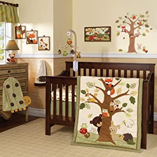 Lambs & Ivy Forest/Woodland 7 Piece Crib Bedding Set - Echo - Brown/Beige