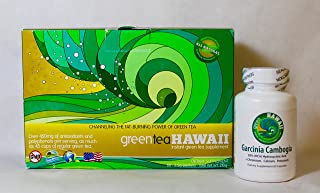 North Shore Diet: Green Tea Hawaii 60ct. (Variety) Powdered Antioxidant Drink with Noni and one bottle of Garcinia Cambogia.