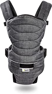 Hauck 2 Way Carrier, Ergonomic Baby Carrier, 0M+ to 12 kg - Charcoal