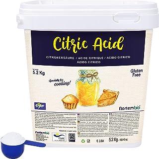 Nortembio Ácido Cítrico 5,2 Kg. La Mejor Calidad Alimentaria. Insumo Ecológico. Polvo, 100% Puro. E-Book Incluido.