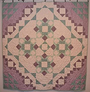 Toddler Quilt Blanket Lap Quilt Blanket Meadow Mist in Purple and Aqua