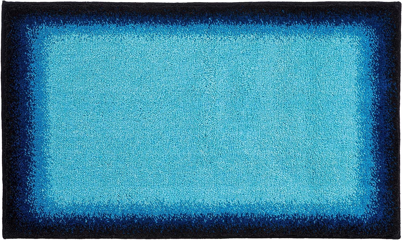 Grund Designer Series Accent Bath Rug, Avalon, 21-inch by 34-Inch, bluee