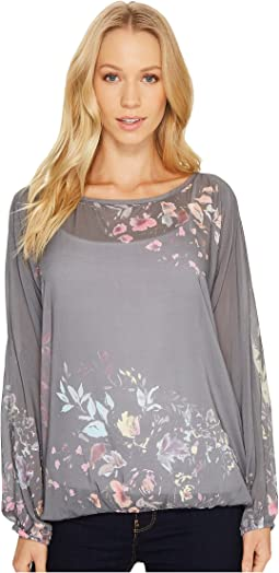 Dylan by True Grit - Chelsea Floral Crew Blouse