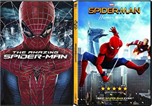 The Spider-Man DVD Double Feature Homecoming Movie Pack / The Amazing Marvel Super Hero Set