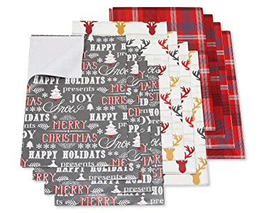 American Greetings 6148841 Christmas Wrapping Paper Sheets with Gridlines Bundle, Stripe, Polka Dot and Zigzag, 12-Sheets