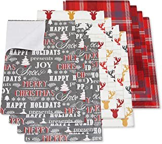 American Greetings Christmas Wrapping Paper Sheets with Gridlines Bundle, Stripe, Polka Dot and Zigzag, 12-Sheets