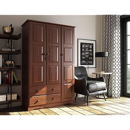WJ Wardrobe Solid Wood Simple Sliding Door Panel Type Simple Modern economical Assembled Bedroom Cabinet Childrens wa