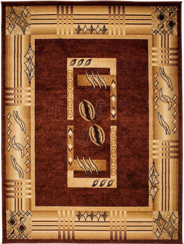 Carpeto Klassisch Teppich Braun 200 x 290 290 290 cm Bordüre  Muster Kirtan Kollektion B07FN1D4J3 7cfb79