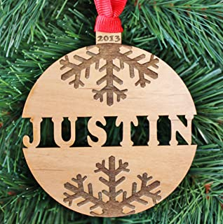 Personalized Name Christmas Ornament, Handmade Engraved Christmas Ornaments - ORN09