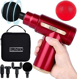 BUNTO Mini Massage Gun Deep Tissue Massager with Carrying Bag & Massage Ball | Portable Massage Gun Mini Massager Gun | Tr...