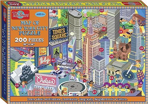 excelentes precios T.S. Shure Mapa de la Ciudad de Nueva York York York 200Piece Jigsaw Puzzle  tienda de bajo costo