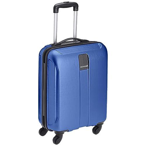 Safari Thorium Stubble 55 Cms Polycarbonate Blue Cabin 4 wheels  Hard Suitcase