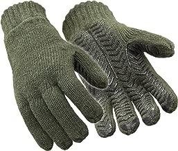 RefrigiWear Fleece Lined Thinsulate Insulated 100% Ragg Wool Grip Gloves