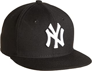 MLB New York Yankees Youth Black with White 59FIFTY Fitted Cap