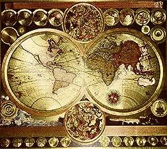 double hemisphere world map