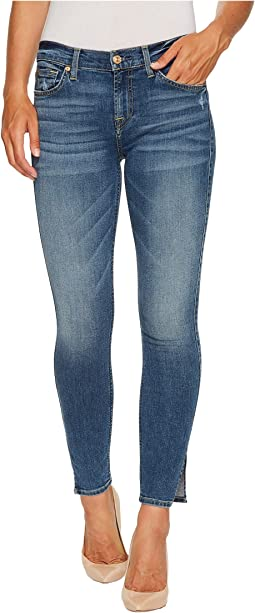 7 For All Mankind Ankle Skinny w/ Side Splits & Distress in Kings Street