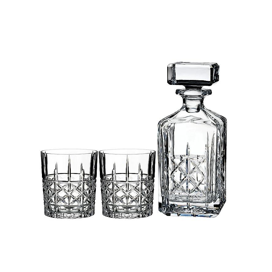 貝殻病気手順Marquis by Waterford Brady Decanter Set with Two Double Old Fashioned Glasses by Waterford