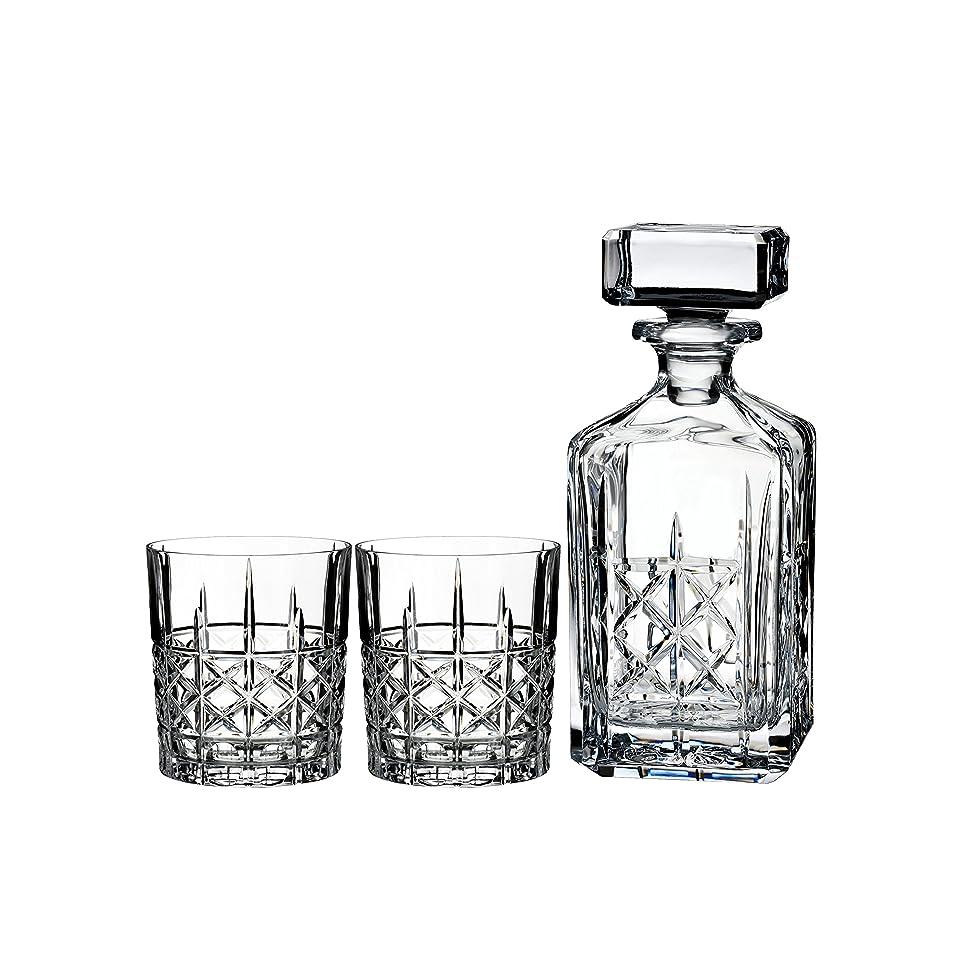 寝具勧告めるMarquis by Waterford Brady Decanter Set with Two Double Old Fashioned Glasses by Waterford