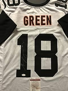 Autographed/Signed AJ A.J. Green Cincinnati Color Rush Football Jersey JSA COA
