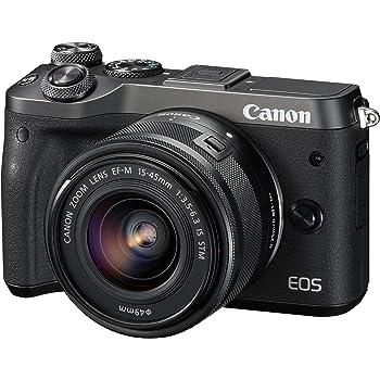 Canon ミラーレス一眼カメラ EOS M6 レンズキット(ブラック) EF-M15-45mm F3.5-6.3 IS STM 付属 EOSM6BK-1545ISSTMLK