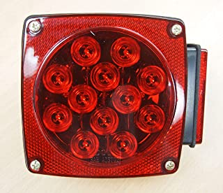 EAGLEKING 12V LED Submersible Trailer Tail Light Replacement Right Curb Side DOT