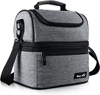 Hap Tim Lunch Box Insulated Lunch Bag Large Cooler Tote Bag for Adult,Men,Women, Double Deck Cooler for Office/Picnic (AE-...