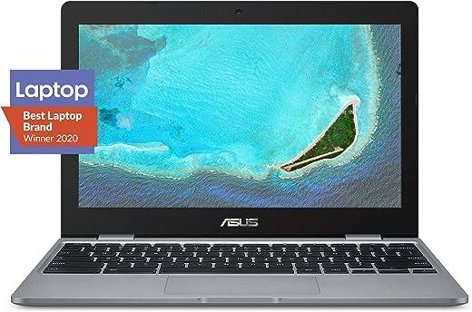 "ASUS Chromebook C223 11.6"" HD Chromebook Laptop, Intel Dual-Core Celeron N3350 Processor (up to 2.4GHz), 4GB RAM, 32GB eMMC Storage, Premium Design, Grey, C223NA-DH02"
