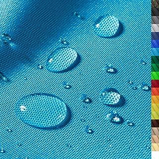 1buy3 Premium Wasserdichter Polyester Stoff | 8450 mm Wassersäule | Farbe 14 | Türkis | Polyester Stoff 160cm breit Meterware wasserdicht Outdoor extrem reissfest