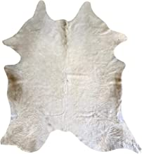 Echt koeienleer tapijt model wolk - afmetingen ca. 230 x 210 cm - Koeienhuid Premium 100% natuur voor woonkamer, slaapkame...